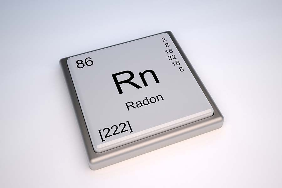 Radon periodic element, which we check for while preforming home inspection services